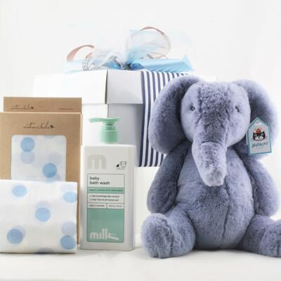 Snuggles and Bubbles Baby Boy Hamper